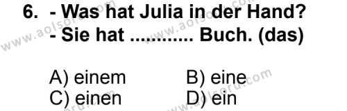 Almanca 1 Dersi 2011-2012 Yılı 1. Dönem Sınavı 6. Soru