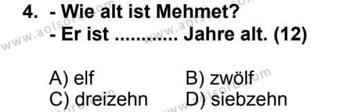 Almanca 1 Dersi 2011 - 2012 Yılı Ek Sınav Soruları 4. Soru