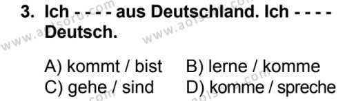 Almanca 1 Dersi 2018 - 2019 Yılı Ek Sınav Soruları 3. Soru
