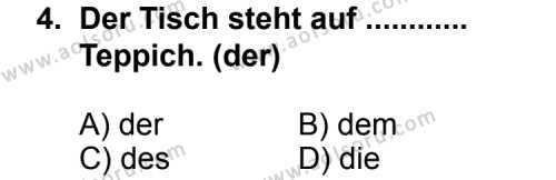 Almanca 3 Dersi 2011 - 2012 Yılı Ek Sınav Soruları 4. Soru