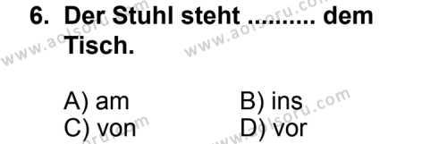 Almanca 3 Dersi 2012-2013 Yılı 1. Dönem Sınavı 6. Soru