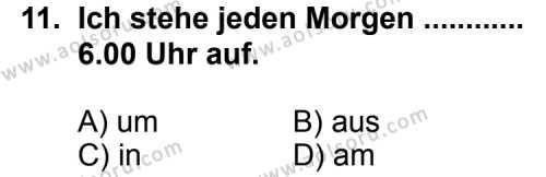 Almanca 3 Dersi 2013-2014 Yılı 1. Dönem Sınavı 11. Soru