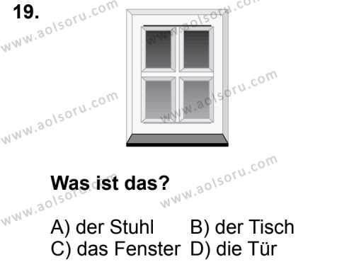 Almanca 3 Dersi 2014-2015 Yılı 1. Dönem Sınavı 19. Soru