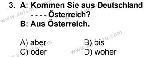 Almanca 3 Dersi 2016-2017 Yılı 1. Dönem Sınavı 3. Soru