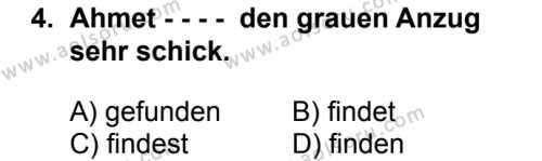 Almanca 3 Dersi 2018 - 2019 Yılı 3. Dönem Sınav Soruları 4. Soru
