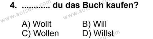 Almanca 4 Dersi 2013 - 2014 Yılı 3. Dönem Sınav Soruları 4. Soru