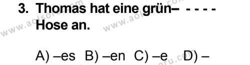 Almanca 4 Dersi 2014 - 2015 Yılı Ek Sınav Soruları 3. Soru