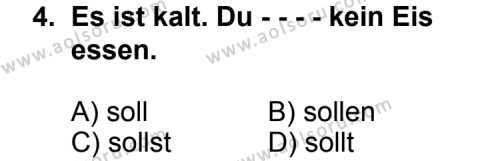 Almanca 4 Dersi 2014 - 2015 Yılı Ek Sınav Soruları 4. Soru