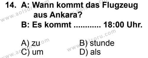 Almanca 5 Dersi 2011-2012 Yılı 1. Dönem Sınavı 14. Soru