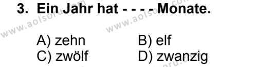 Almanca 5 Dersi 2014 - 2015 Yılı Ek Sınav Soruları 3. Soru
