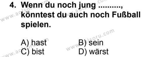 Almanca 6 Dersi 2011 - 2012 Yılı Ek Sınav Soruları 4. Soru