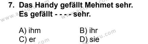 Almanca 6 Dersi 2018-2019 Yılı 1. Dönem Sınavı 7. Soru