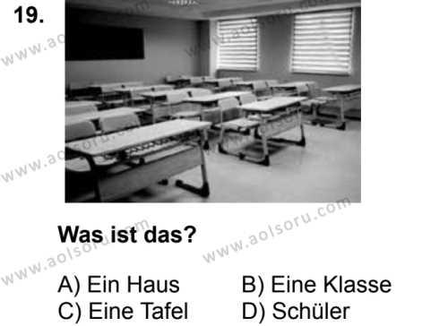 Almanca 6 Dersi 2018-2019 Yılı 1. Dönem Sınavı 19. Soru