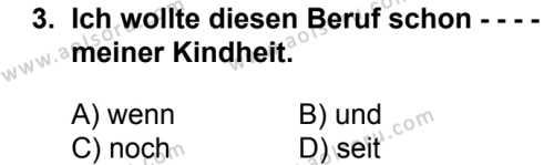Almanca 6 Dersi 2018 - 2019 Yılı Ek Sınav Soruları 3. Soru