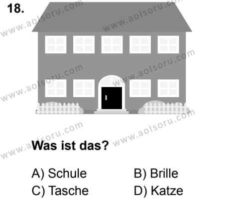 Almanca 6 Dersi 2019-2020 Yılı 1. Dönem Sınavı 18. Soru
