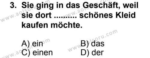 Almanca 7 Dersi 2011 - 2012 Yılı Ek Sınav Soruları 3. Soru