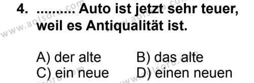 Almanca 7 Dersi 2011 - 2012 Yılı Ek Sınav Soruları 4. Soru