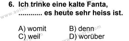 Almanca 7 Dersi 2013-2014 Yılı 1. Dönem Sınavı 6. Soru