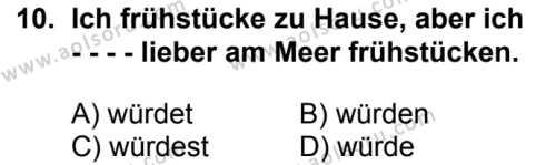 Almanca 7 Dersi 2018-2019 Yılı 1. Dönem Sınavı 10. Soru