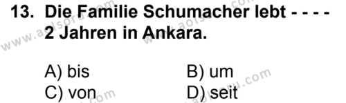 Almanca 8 Dersi 2016-2017 Yılı 1. Dönem Sınavı 13. Soru