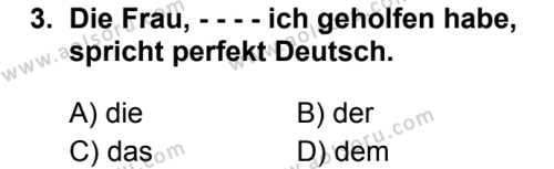 Almanca 8 Dersi 2019 - 2020 Yılı 2. Dönem Sınav Soruları 3. Soru