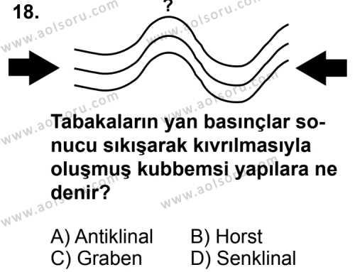 Coğrafya 1 Dersi 2014-2015 Yılı 1. Dönem Sınavı 18. Soru