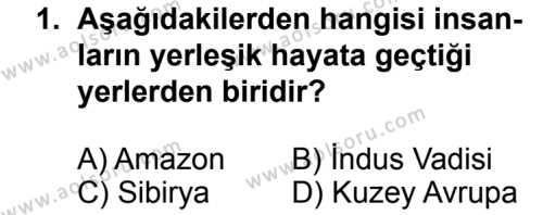 Coğrafya 2 Dersi 2013 - 2014 Yılı 3. Dönem Sınav Soruları 1. Soru