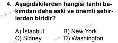 Coğrafya 2 Dersi 2017 - 2018 Yılı 2. Dönem Sınavı 4. Soru
