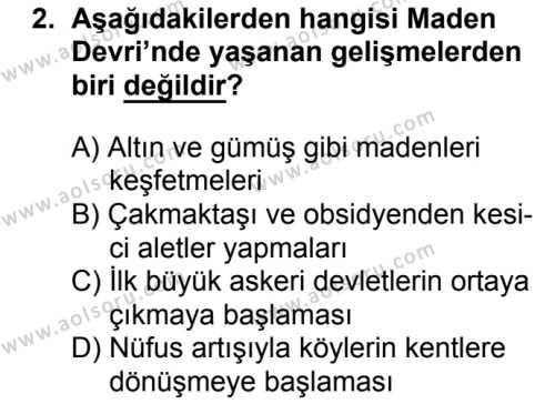 Coğrafya 2 Dersi 2018 - 2019 Yılı 3. Dönem Sınavı 2. Soru