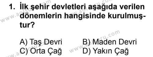 Coğrafya 2 Dersi 2018 - 2019 Yılı Ek Sınavı 1. Soru