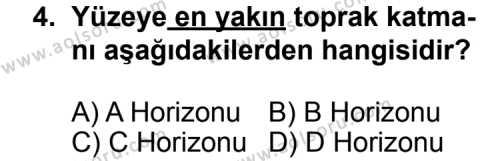 Coğrafya 3 Dersi 2011 - 2012 Yılı Ek Sınavı 4. Soru