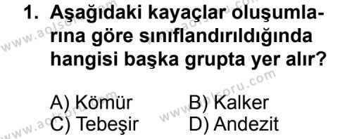 Coğrafya 3 Dersi 2013 - 2014 Yılı 3. Dönem Sınav Soruları 1. Soru