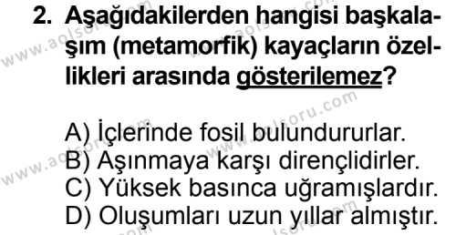 Coğrafya 3 Dersi 2013 - 2014 Yılı 3. Dönem Sınav Soruları 2. Soru