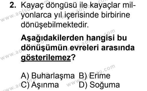 Coğrafya 3 Dersi 2014 - 2015 Yılı Ek Sınav Soruları 2. Soru