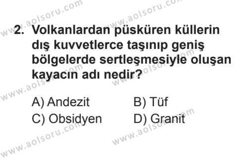Coğrafya 3 Dersi 2017 - 2018 Yılı 3. Dönem Sınavı 2. Soru
