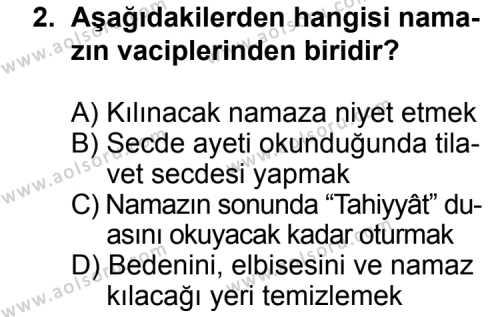 Fıkıh 2 Dersi 2012 - 2013 Yılı Ek Sınavı 2. Soru