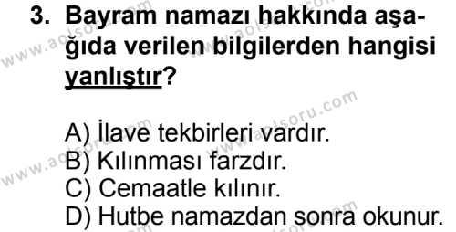 Fıkıh 2 Dersi 2012 - 2013 Yılı Ek Sınavı 3. Soru