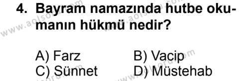 Fıkıh 2 Dersi 2012 - 2013 Yılı Ek Sınavı 4. Soru