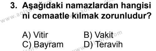 Fıkıh 2 Dersi 2014 - 2015 Yılı Ek Sınav Soruları 3. Soru