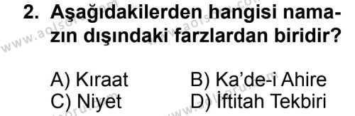 Fıkıh 2 Dersi 2015 - 2016 Yılı Ek Sınavı 2. Soru