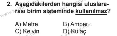 Fizik 1 Dersi 2018 - 2019 Yılı 2. Dönem Sınav Soruları 2. Soru