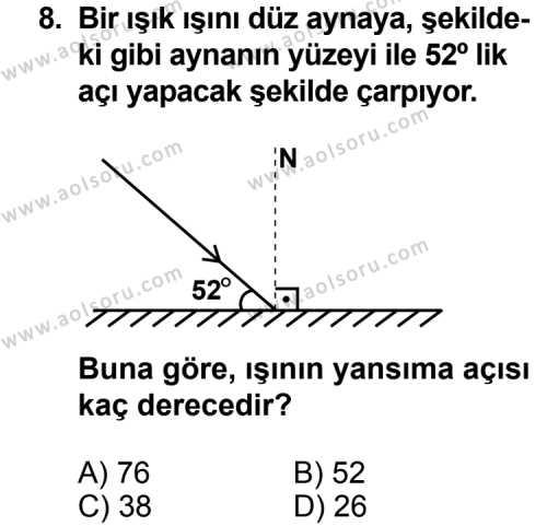Fizik 2 Dersi 2012-2013 Yılı 1. Dönem Sınavı 8. Soru
