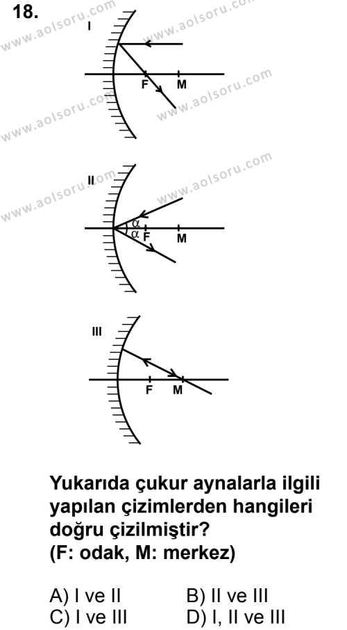 Fizik 2 Dersi 2012-2013 Yılı 1. Dönem Sınavı 18. Soru
