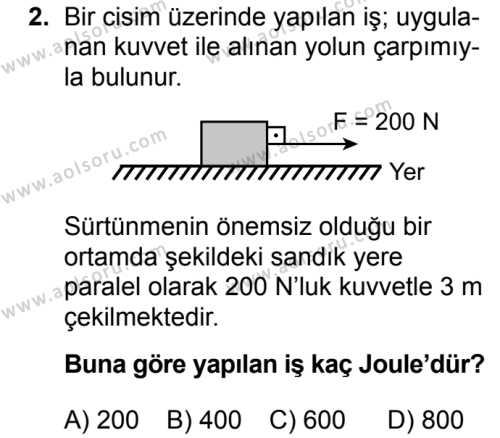 Fizik 2 Dersi 2017 - 2018 Yılı Ek Sınavı 2. Soru