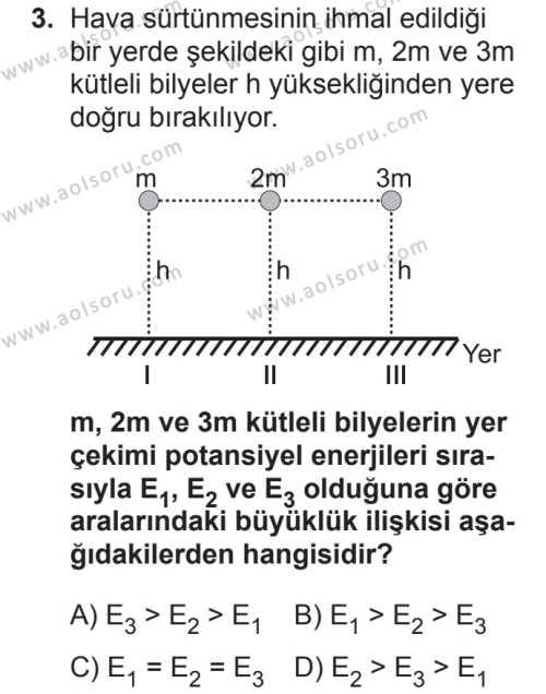 Fizik 2 Dersi 2018 - 2019 Yılı 2. Dönem Sınavı 3. Soru