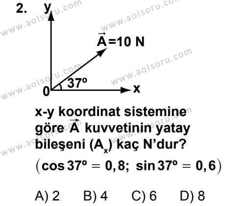 Fizik 3 Dersi 2011 - 2012 Yılı 1. Dönem Sınav Soruları 2. Soru