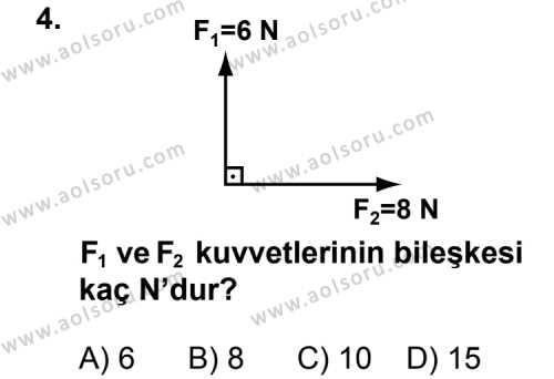 Fizik 3 Dersi 2011 - 2012 Yılı 1. Dönem Sınav Soruları 4. Soru