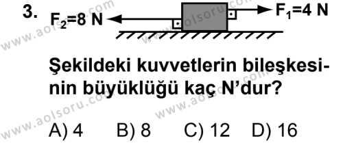 Fizik 3 Dersi 2011 - 2012 Yılı Ek Sınav Soruları 3. Soru