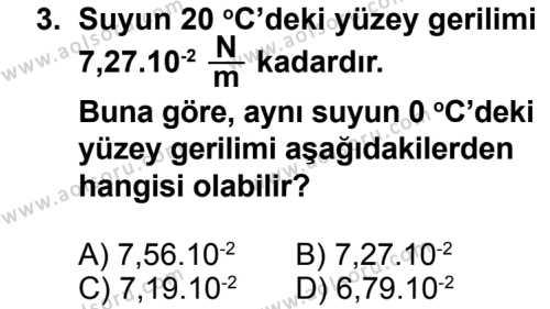 Fizik 3 Dersi 2013 - 2014 Yılı 3. Dönem Sınavı 3. Soru
