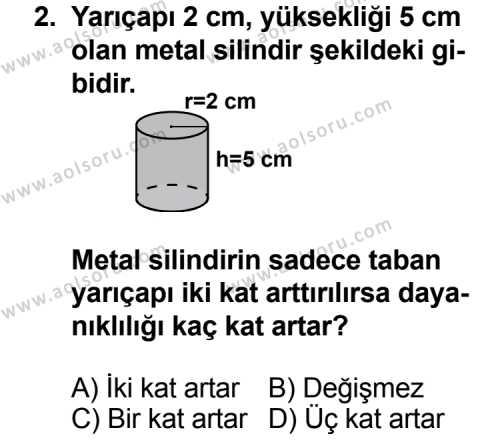Fizik 3 Dersi 2014 - 2015 Yılı 1. Dönem Sınav Soruları 2. Soru